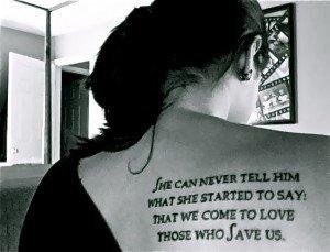 Citaat uit Het familieportret als tatoeage!