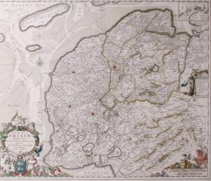 Kaart van Fryslân